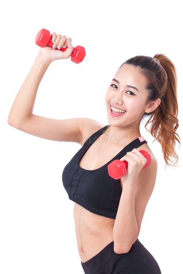 Πορτρέτο της νέας γυναίκας που κάνει την άσκηση στοκ εικόνες με δικαίωμα ελεύθερης χρήσης