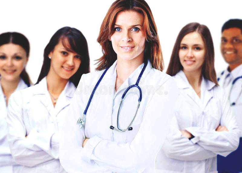 Πορτρέτο της ομάδας χαμογελώντας συναδέλφων νοσοκομείων στοκ φωτογραφία με δικαίωμα ελεύθερης χρήσης