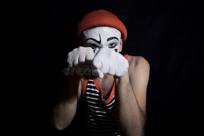 Πορτρέτο της πάλης mime στοκ εικόνες με δικαίωμα ελεύθερης χρήσης