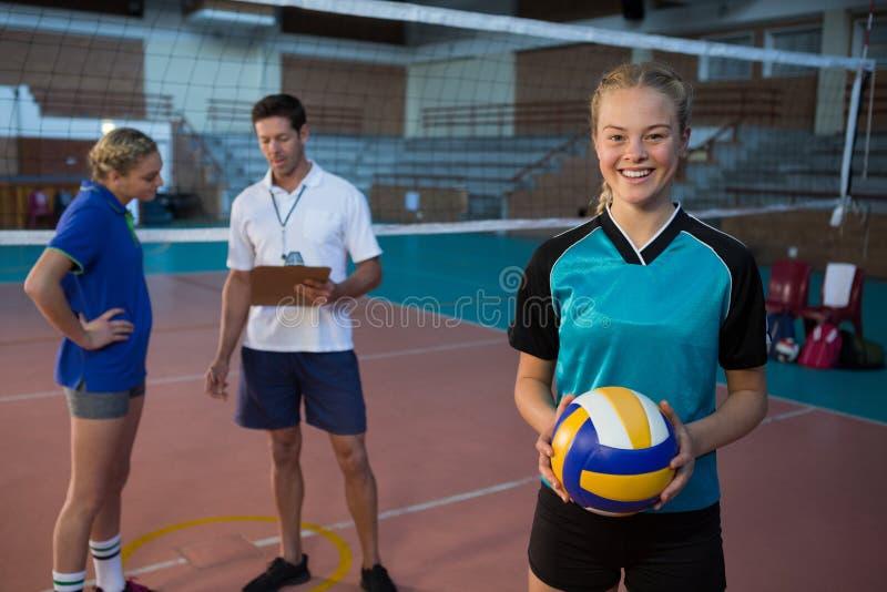 Πορτρέτο της σφαίρας εκμετάλλευσης φορέων πετοσφαίρισης στοκ φωτογραφίες με δικαίωμα ελεύθερης χρήσης
