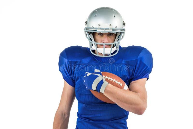 Πορτρέτο της σφαίρας εκμετάλλευσης φορέων αμερικανικού ποδοσφαίρου στοκ εικόνες με δικαίωμα ελεύθερης χρήσης