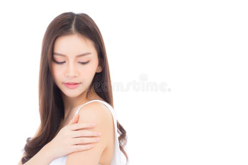 Πορτρέτο της όμορφης ασιατικής γυναίκας makeup του καλλυντικού στοκ εικόνα