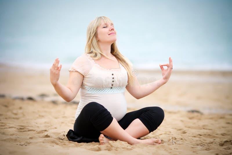 Πορτρέτο της όμορφης εγκύου γυναίκας στοκ φωτογραφία
