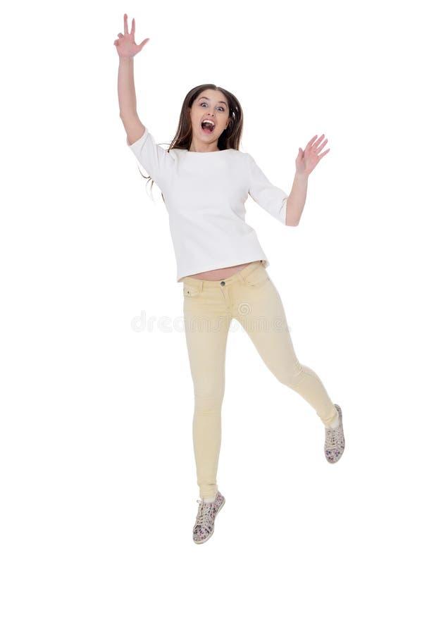 Πορτρέτο της όμορφης νέας γυναίκας που φορά τον περιστασιακό ιματισμό στοκ εικόνες με δικαίωμα ελεύθερης χρήσης