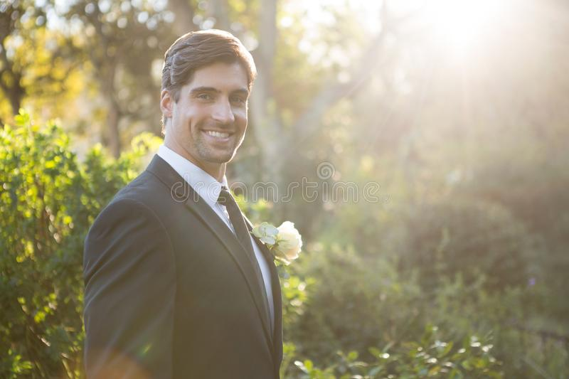 Πορτρέτο της όμορφης νύφης που υπερασπίζεται τις εγκαταστάσεις στοκ φωτογραφία με δικαίωμα ελεύθερης χρήσης