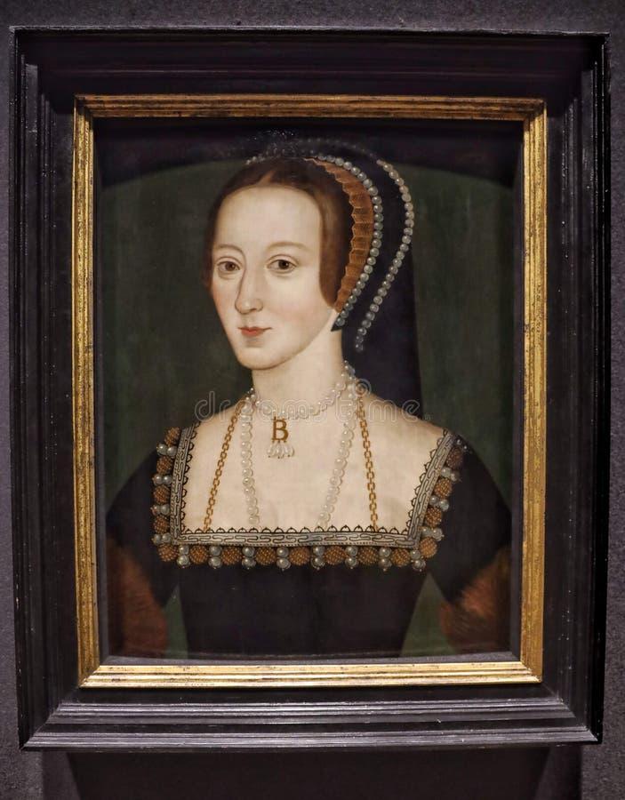 Πορτρέτο της Anne Boleyn στοκ φωτογραφίες
