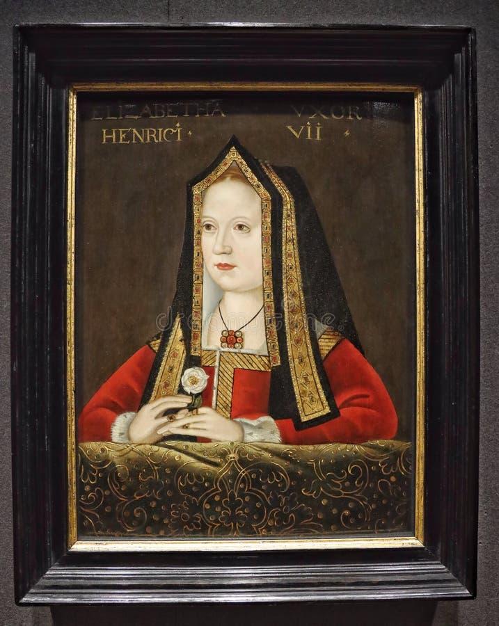 Πορτρέτο της Elizabeth της Υόρκης στοκ εικόνα με δικαίωμα ελεύθερης χρήσης