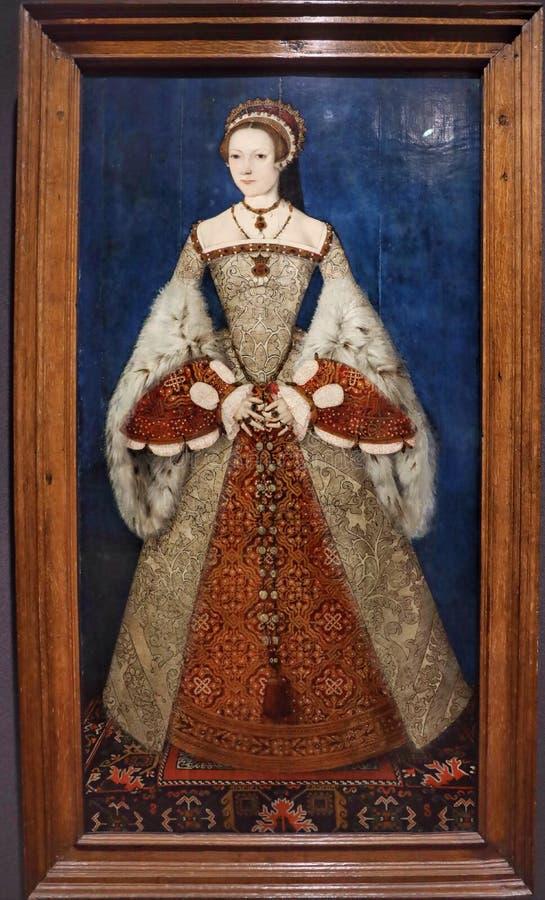 Πορτρέτο της Katherine Parr στοκ εικόνα με δικαίωμα ελεύθερης χρήσης