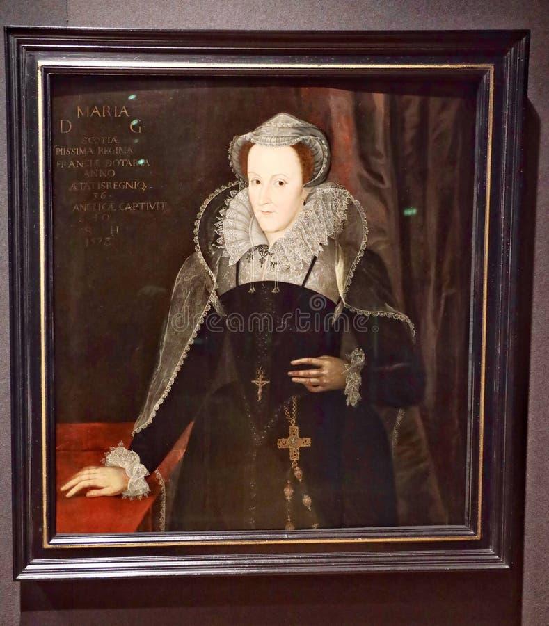 Πορτρέτο της Mary, βασίλισσα σκωτσέζικου στοκ φωτογραφία με δικαίωμα ελεύθερης χρήσης