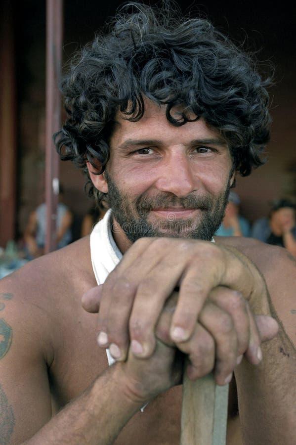 Πορτρέτο του αργεντινού ατόμου, εργαζόμενος, Αργεντινή στοκ εικόνες