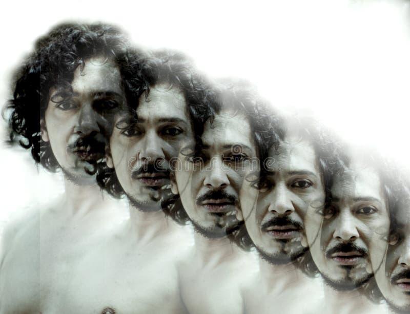 Πορτρέτο του ατόμου με το γυμνό κορμό διανυσματική απεικόνιση