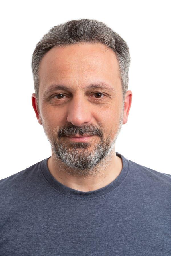 Πορτρέτο του ατόμου που φορά την γκρίζα μπλούζα στοκ εικόνες με δικαίωμα ελεύθερης χρήσης