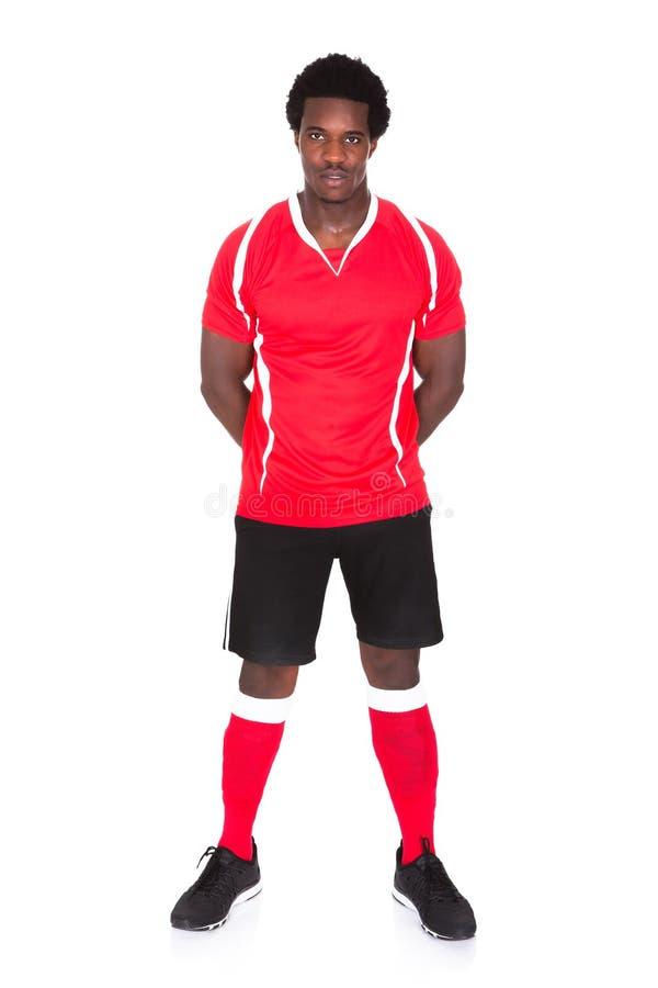 Πορτρέτο του αφρικανικού ποδοσφαιριστή στοκ φωτογραφίες με δικαίωμα ελεύθερης χρήσης