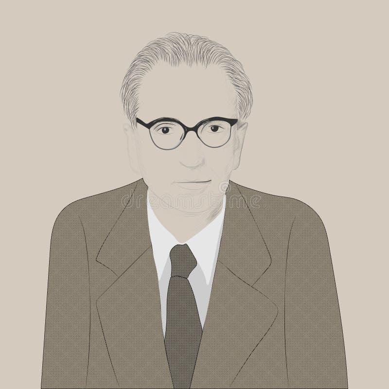 Πορτρέτο του Βίκτωρ Emil Frankl απεικόνιση αποθεμάτων