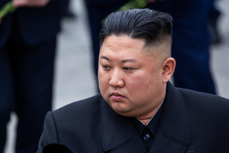 Πορτρέτο του Γενικού Γραμματέα των Η.Ε της Kim Jong Βόρεια Κορεών DPRK στοκ φωτογραφίες με δικαίωμα ελεύθερης χρήσης