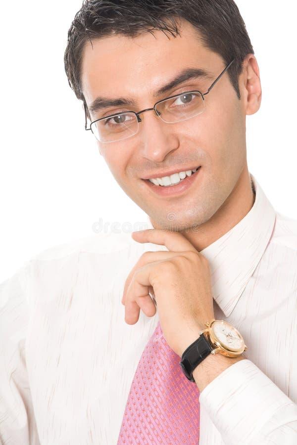 Πορτρέτο του επιχειρηματία, που απομονώνεται στοκ εικόνες