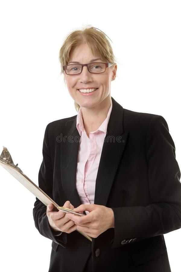 Πορτρέτο του εργαζομένου γραφείων στοκ φωτογραφίες με δικαίωμα ελεύθερης χρήσης