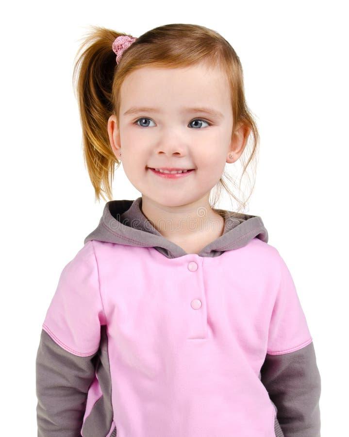 Πορτρέτο του ευτυχούς χαμογελώντας μικρού κοριτσιού στοκ φωτογραφία με δικαίωμα ελεύθερης χρήσης