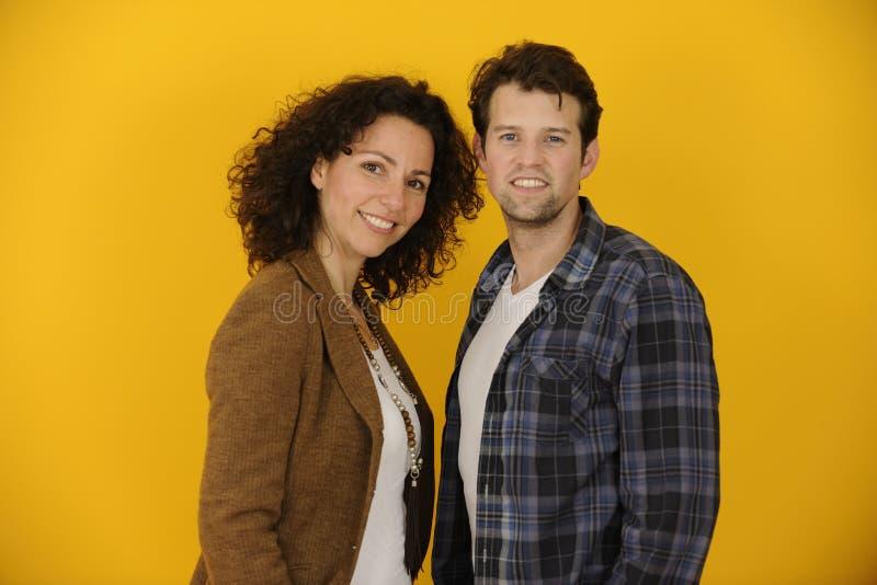Πορτρέτο του ζεύγους ή των συνεργατών στοκ εικόνες