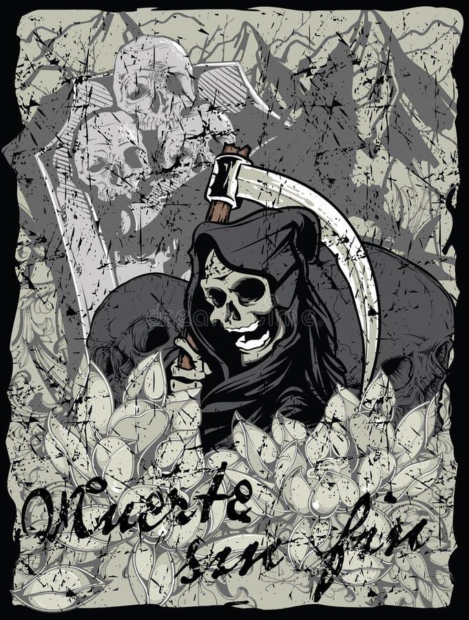Πτερύγιο αμαρτίας Muerte απεικόνιση αποθεμάτων