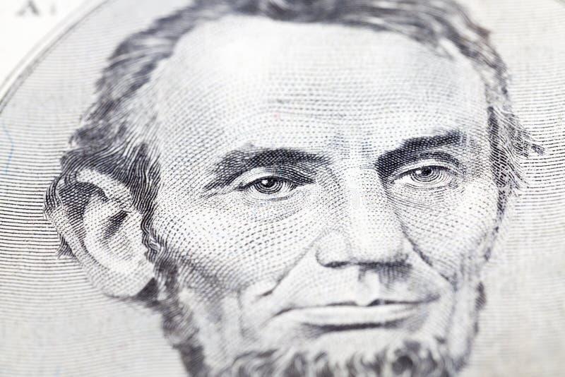 Πορτρέτο του Λίνκολν στοκ φωτογραφίες με δικαίωμα ελεύθερης χρήσης