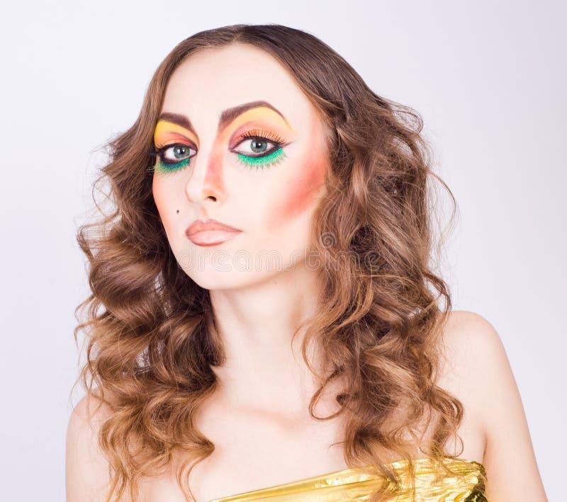 Πορτρέτο του μοντέλου γυναικών μόδας στοκ φωτογραφίες με δικαίωμα ελεύθερης χρήσης