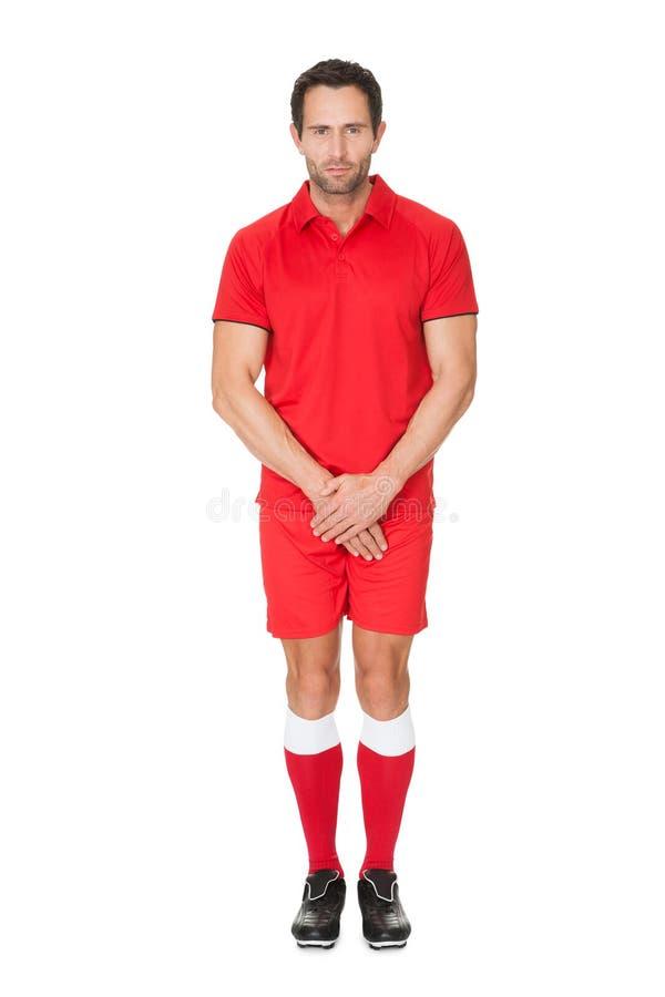 Πορτρέτο του ποδοσφαιριστή στοκ εικόνες