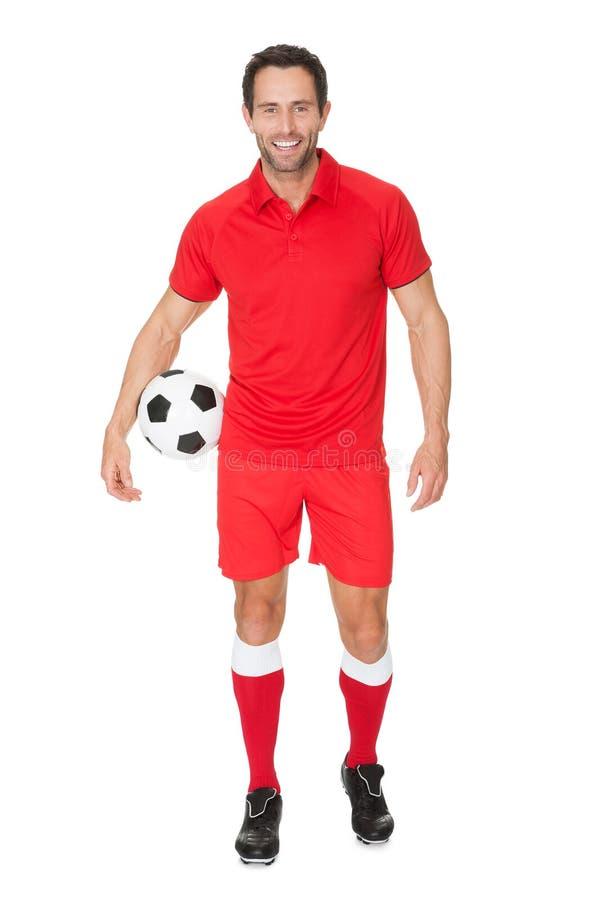 Πορτρέτο του ποδοσφαιριστή στοκ εικόνα