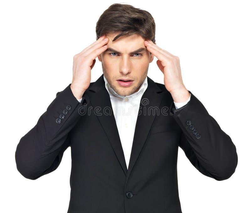 Πορτρέτο του σκεπτόμενου επιχειρηματία στοκ εικόνα