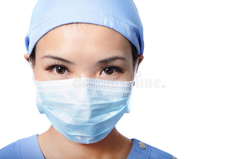 Πορτρέτο του σοβαρού προσώπου γιατρών γυναικών στοκ εικόνες