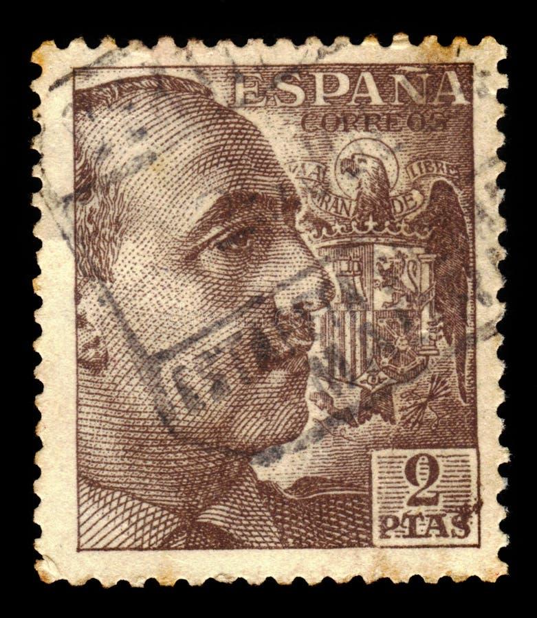 Πορτρέτο του στρατηγού Φράνκο με την κάλυψη των όπλων στοκ εικόνες