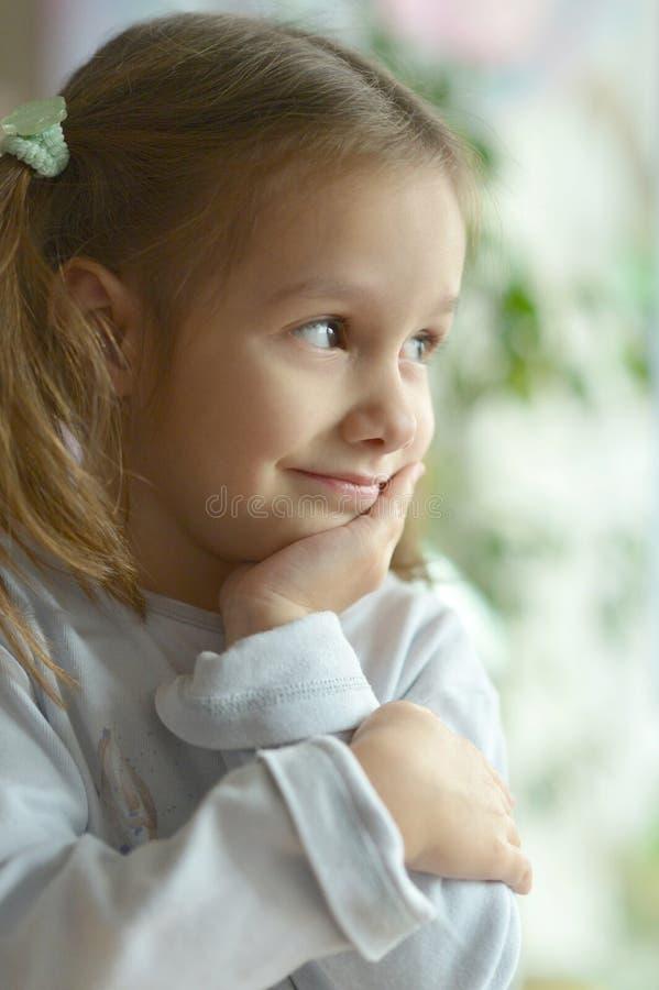 Πορτρέτο του συναισθηματικού κοριτσιού στοκ εικόνες με δικαίωμα ελεύθερης χρήσης