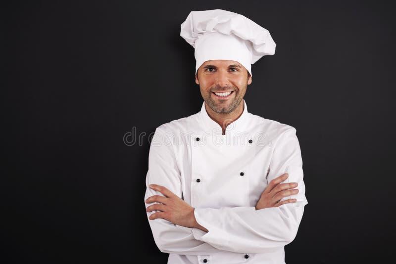 Πορτρέτο του χαμογελώντας αρχιμάγειρα στοκ εικόνες