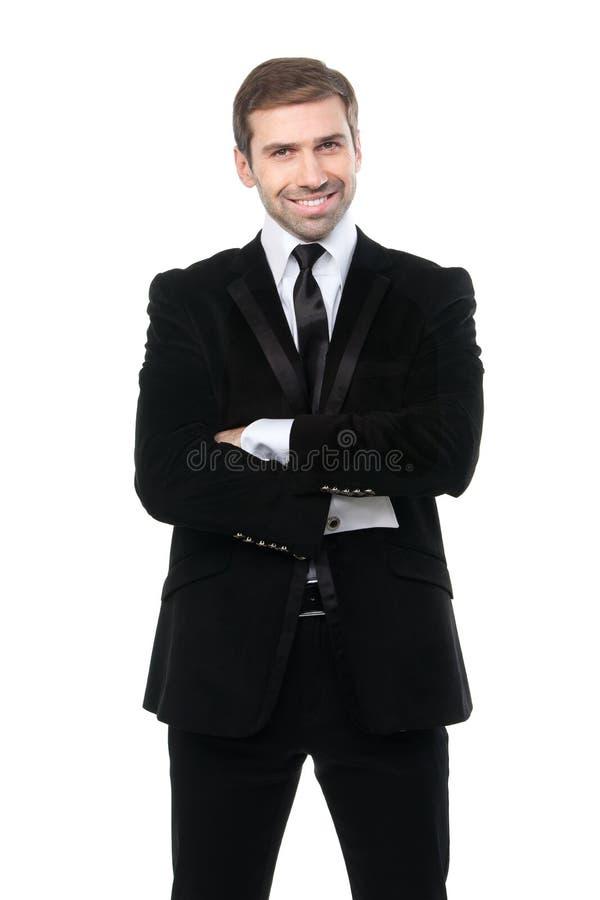 Πορτρέτο του χαμογελώντας επιχειρησιακού ατόμου με τα όπλα που διασχίζονται στοκ εικόνα με δικαίωμα ελεύθερης χρήσης