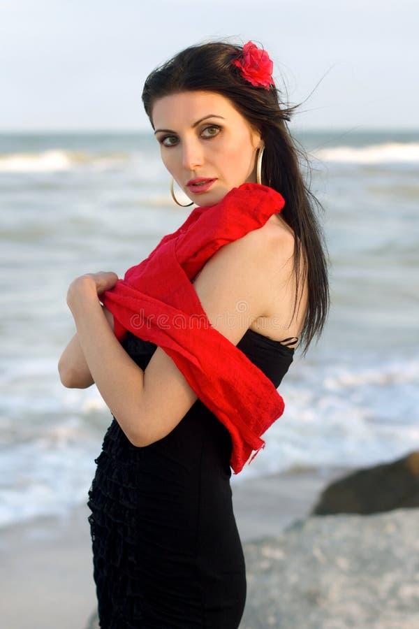Πορτρέτο του χαριτωμένου νέου brunette στοκ φωτογραφία με δικαίωμα ελεύθερης χρήσης