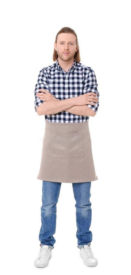 Πορτρέτο του όμορφου αρσενικού ανθοκόμου στοκ φωτογραφία