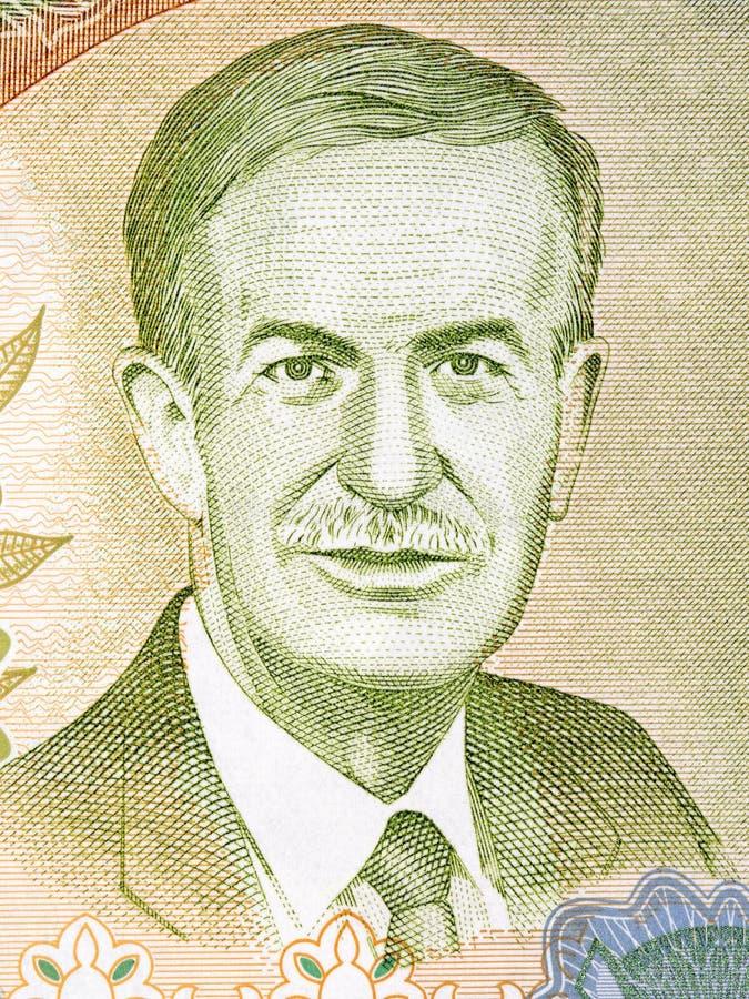 Πορτρέτο του Al-Assad Hafez στοκ φωτογραφία με δικαίωμα ελεύθερης χρήσης