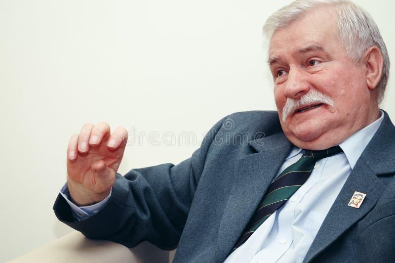 Πορτρέτο του Lech Walesa στοκ εικόνα