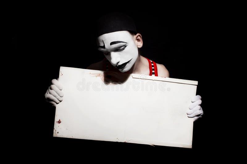 Πορτρέτο του mime στοκ φωτογραφία με δικαίωμα ελεύθερης χρήσης