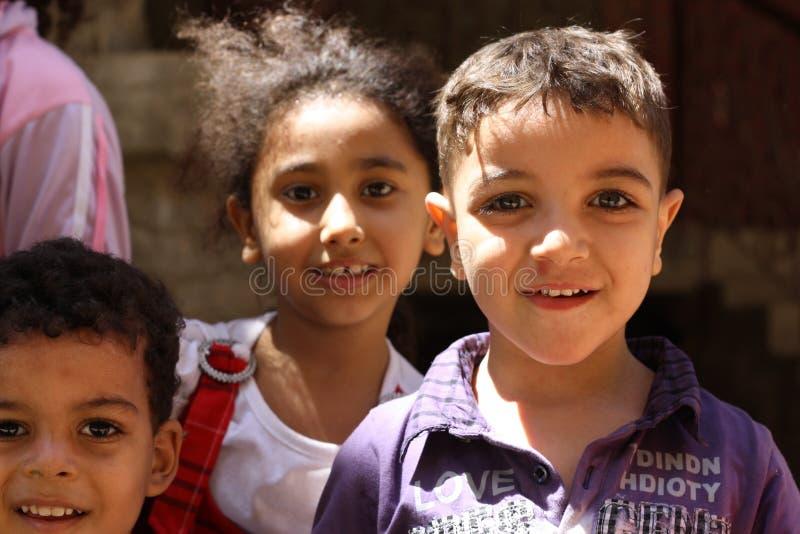 Πορτρέτο των αιγυπτιακών παιδιών στο chairty γεγονός στοκ εικόνα