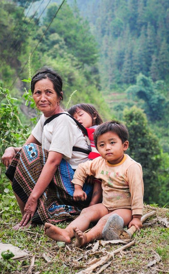 Πορτρέτο των ανθρώπων Hmong στο Βιετνάμ στοκ φωτογραφίες με δικαίωμα ελεύθερης χρήσης