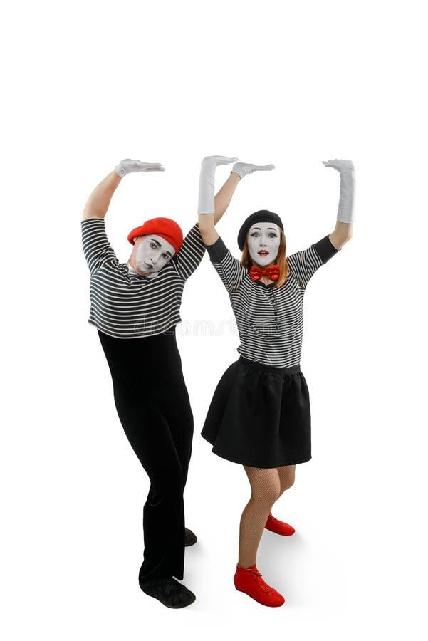 Πορτρέτο των εκτελεστών mime στοκ εικόνες με δικαίωμα ελεύθερης χρήσης