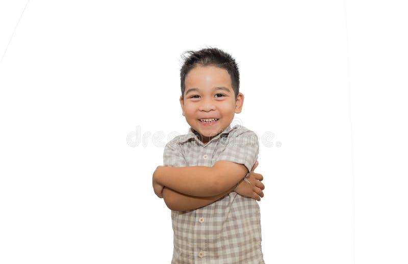 Πορτρέτο των ευτυχών παιδιών στο άσπρο υπόβαθρο στοκ εικόνες