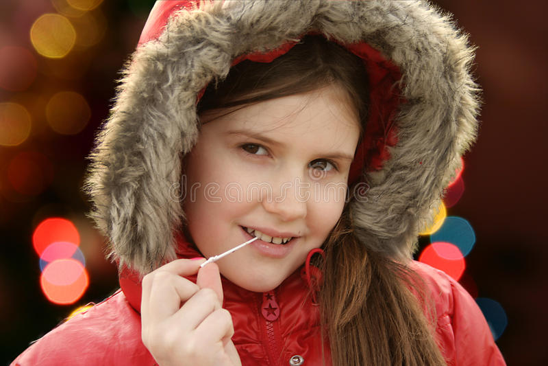 Πορτρέτο χειμερινών κοριτσιών στοκ φωτογραφία