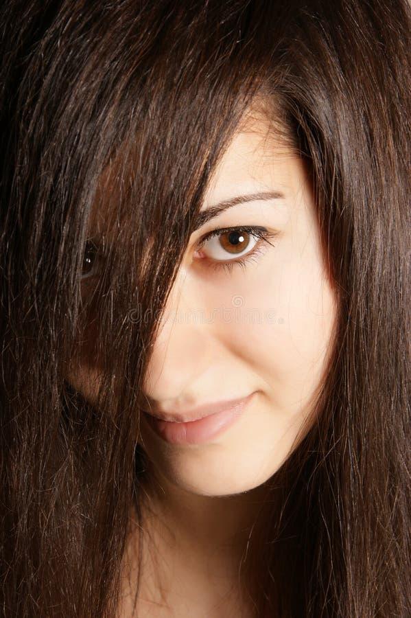 Download πορτρέτο brunette στοκ εικόνα. εικόνα από αισθησιασμός - 22799617