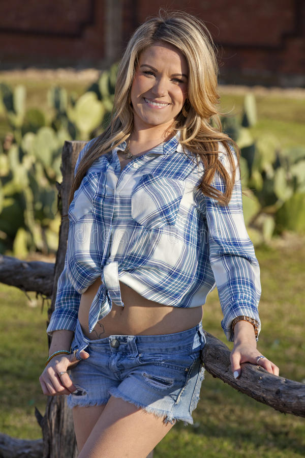 Πορτρέτο Cowgirl στοκ εικόνα