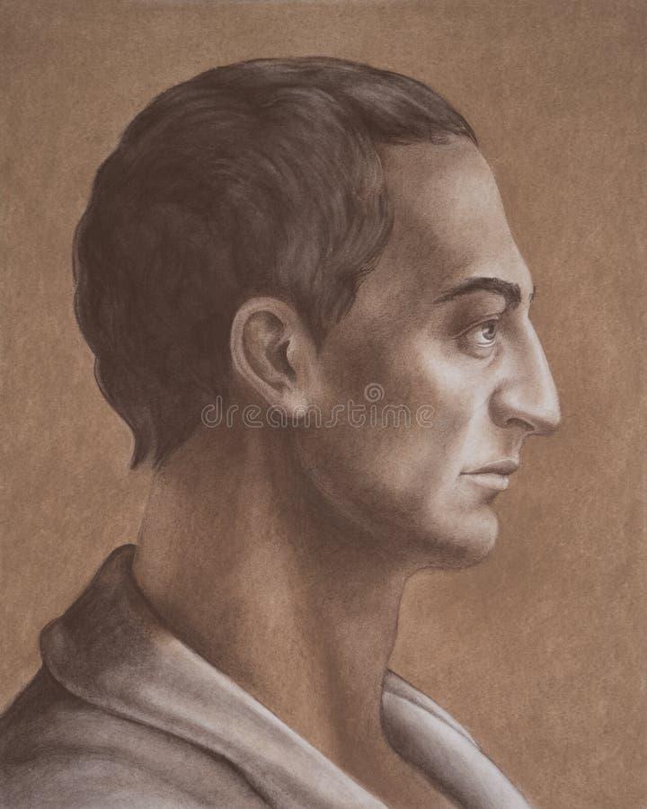 Πορτρέτο Junius Moderatus Columella Lucius στοκ εικόνες με δικαίωμα ελεύθερης χρήσης