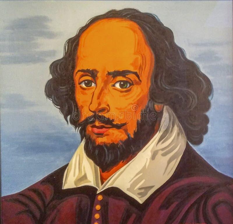 Πορτρέτο Shakespeare στο μουσείο του stratford, Λονδίνο στοκ φωτογραφία με δικαίωμα ελεύθερης χρήσης