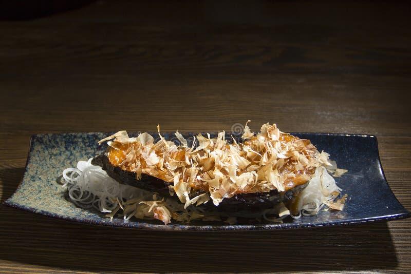 Πορφυρά ιαπωνικά τρόφιμα μελιτζάνας στοκ εικόνα