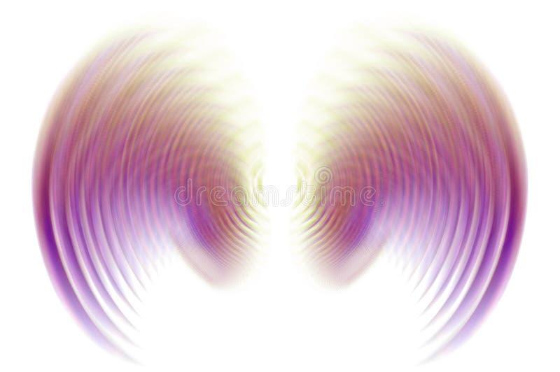 πορφυρά φτερά κινήσεων θαμ& απεικόνιση αποθεμάτων